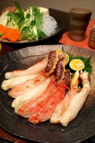 Fresh Crab Sticks Shabu-Shabu Hot Pot, Japanese Cuisine for Winter | Kani Shabu カニしゃぶ
