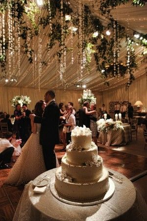 Real Weddings: Abigail + Andrew  Elegant Gold and Ivory At-Home Wedding  amazing tent decor!