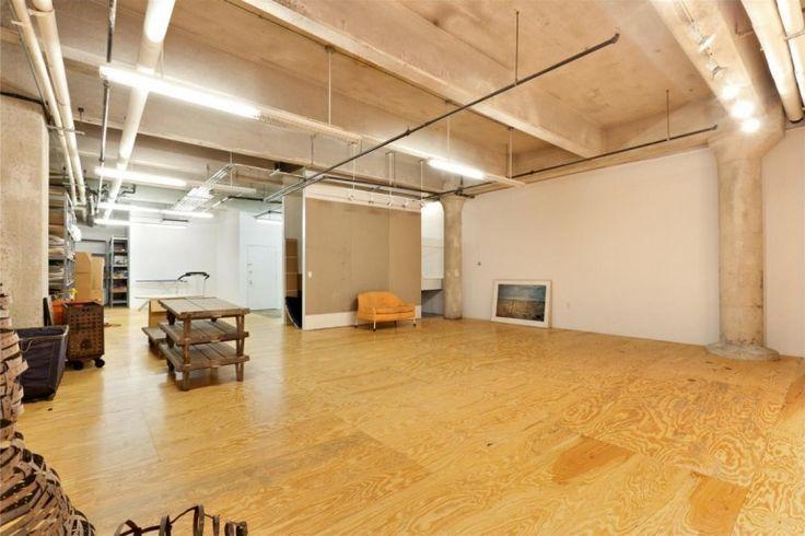 Loft : Two Floor Loft Idea with Three Bedroom in West Village New York City - Loft in West Village Manhattan Before Remodeling showing Industrial Ceiling and Wood Laminate Flooring medium version