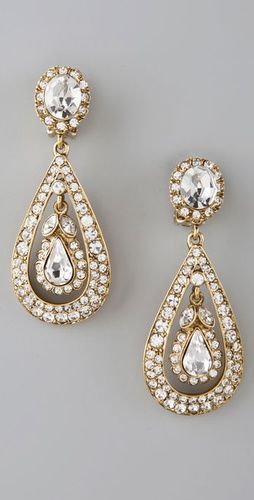 Kenneth Jay Lan Antique drop earrings-- wedding earrings?