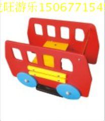 幼兒園親子園遊樂場所室外兒童彈簧搖馬搖搖樂 PV公共汽車搖樂