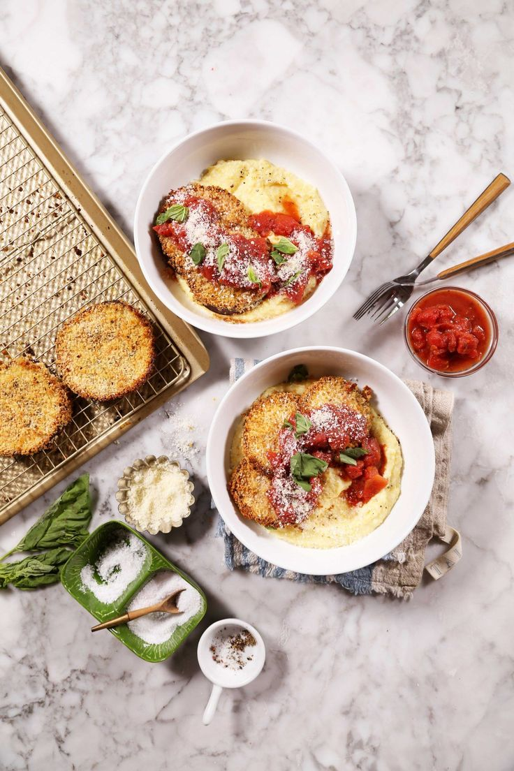 Bowl of Food: Baked Eggplant Parmesan with Creamy Polenta  //  joy the baker