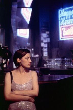 Trainspotting - Kelly Macdonald as Diane. new goal: get this lavender purple sequin dress in my hands.