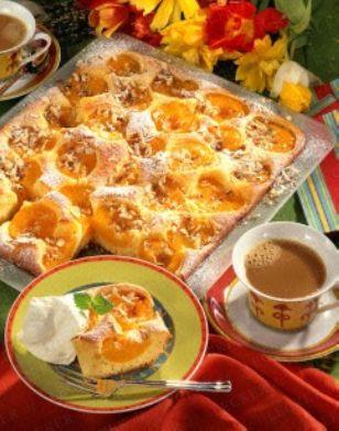 Das Rezept für Pfirsich-Blechkuchen