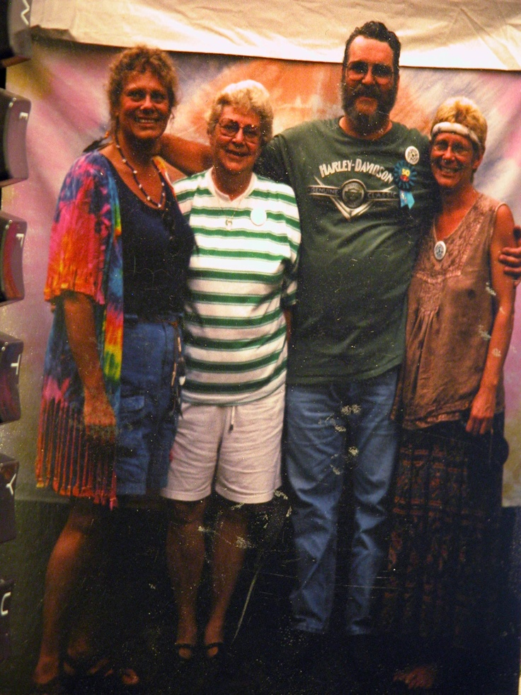 "Me, Mom, Charlie, and Nancy at Charlie's ""It's Hippy to be 50""th Birthday  Party"