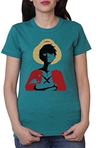 Rey de los Piratas Camiseta de mujer Ruffy One Monkey Anime Piece Zoro, Farbe2:Gasolina;Größe2:M #camiseta #friki #moda #regalo