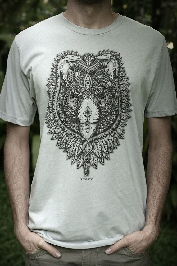 Males Fair Wear and Organic TShirt See Lion by Izwoz on Etsy, $38.00