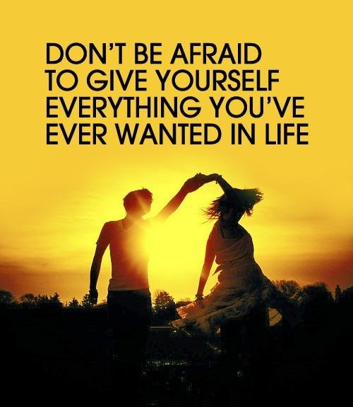 Don't be afraid to give yourself everything you've ever wanted in life.Remember This, Life,  Dust Jackets, Dreams, Afraid,  Dust Covers, Inspiration Quotes, Book Jackets,  Dust Wrappers