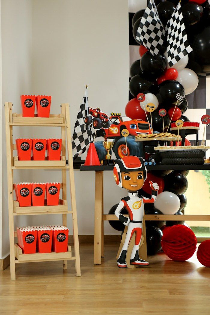 Blaze And The Monster Machines Birthday Party With Images
