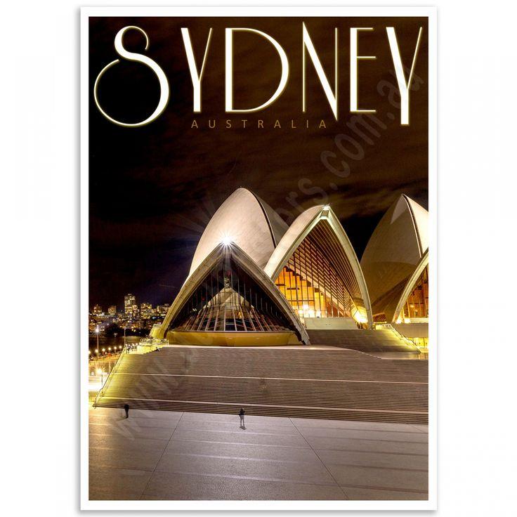 Sydney Poster - Opera House by Night