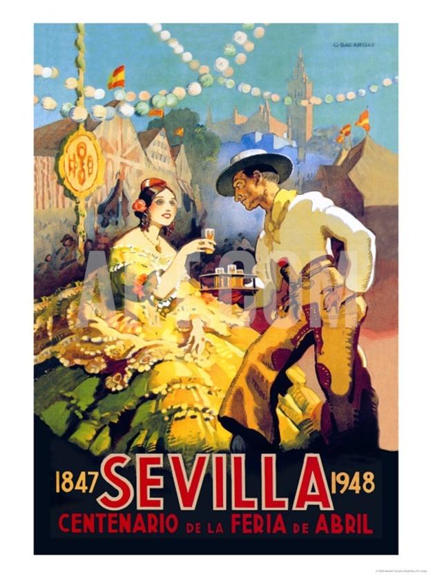 Sevilla Centenario de la Feria de Abril vintage poster by Newell Convers Wyeth, via Art.co.uk