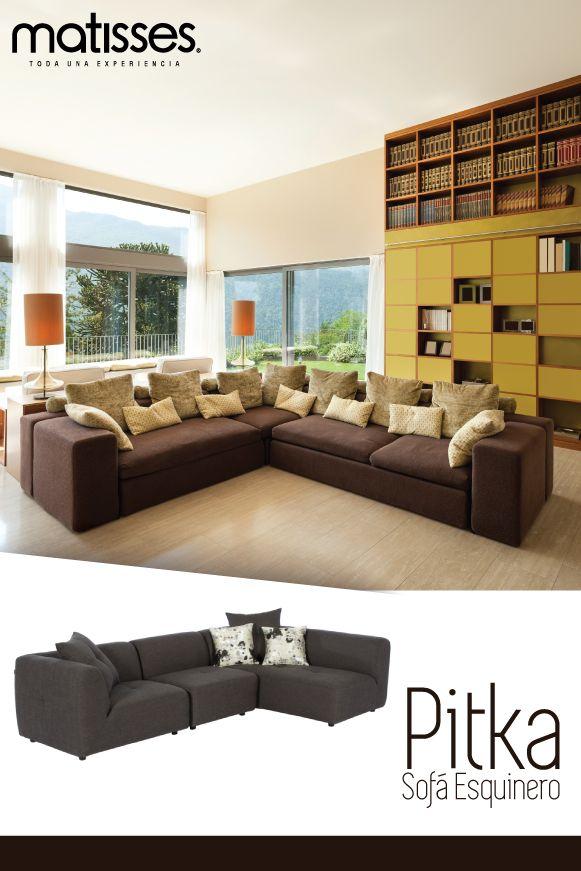 Optimiza el espacio del living con un sof esquinero para - Cojines decorativos para sofas ...