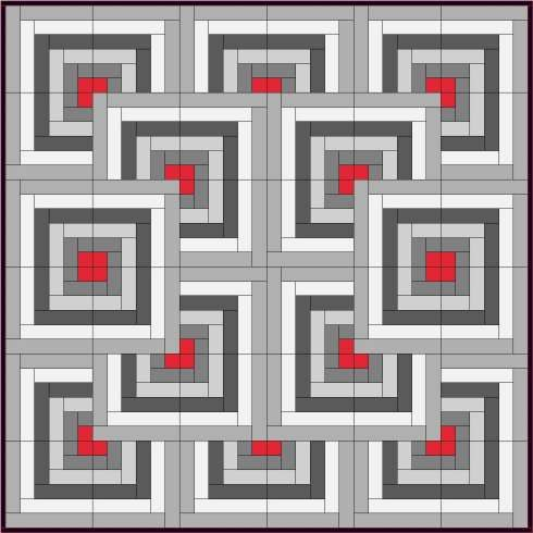 Skill Builder Series: Part 13 – Log Cabin « Piecemeal Quilts