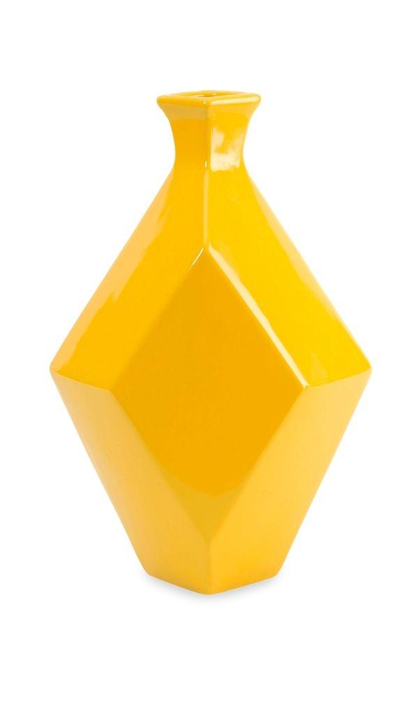 Pizzazz! Home Decor: Unique Home Decor - Glossy Glamour Medium Yellow Ceramic Vase, $61.00 (http://pizzazzhomedecor.com/az-home-decor/glossy-glamour-medium-yellow-ceramic-vase/)