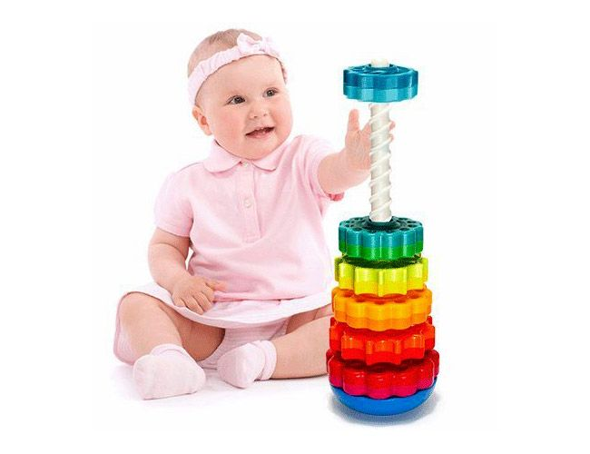 Stack and Twirling Toy | Convert your baby's excessive energy into something useful with this stimulating and fun toy
