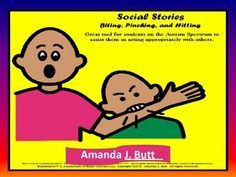 Social Stories Value Pack for behavior; Autism; Special Education; Special Needs; Nonverbal; Hitting; Biting; Pinching; Running Away; Work Quietly; First Work, Then Play; Teachers Pay Teachers $