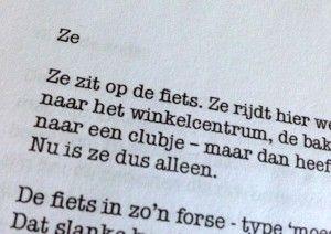 Schrijfopdracht: 'Ze'