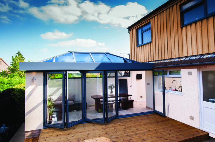 Save money on matching bi-fold patio doors and roof lantern skylights with the stunning ECO+ range.