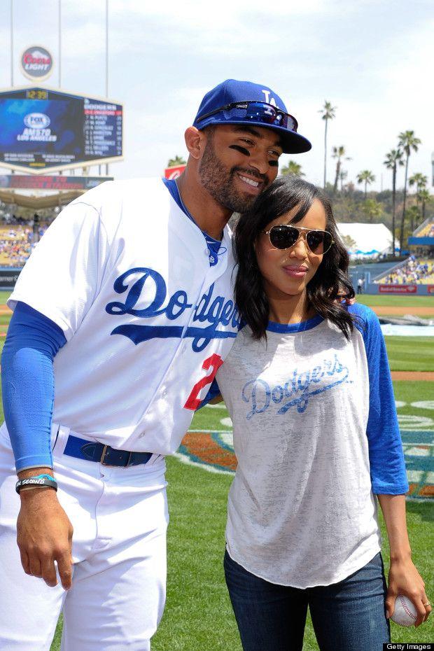 kerry washington at la dogers game  | Kerry Washington Dresses Down & Has Some Fun At LA Dodgers Game ...