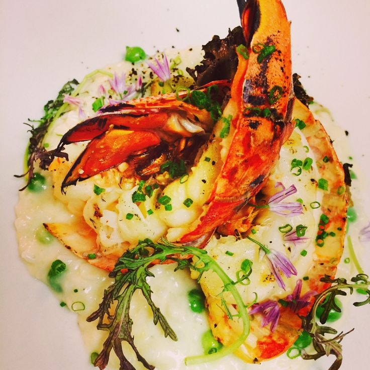 Grilled Lobster Risotto @ Boarding House Nantucket Island