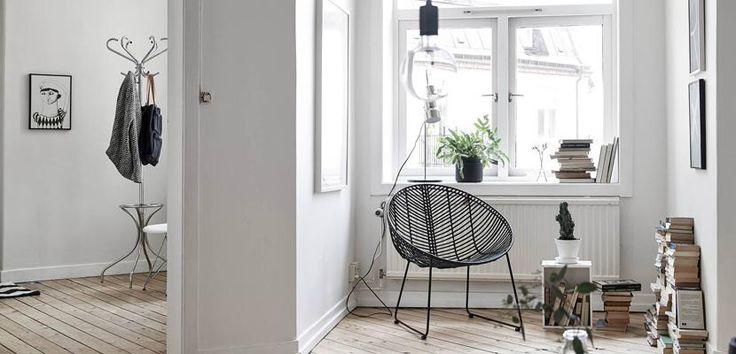 Nordic style reading corner