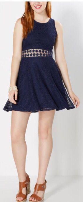 Navy blue lace skater dress from Rue 21