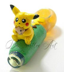 Pikachu Pokemon inspired spoon pipe (DeMatteo Art)