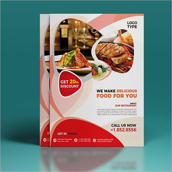 Free Restaurant Flyer Psd Template Restaurant Flyer Menu Flyer