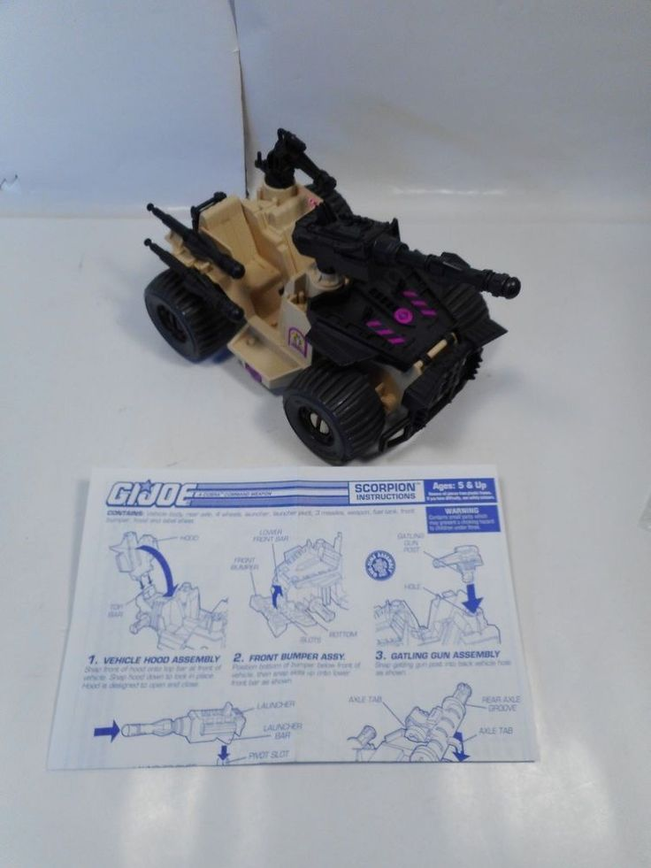 GI JOE COBRA DESERT SCORPION VEHICLE COMPLETE W/BLUEPRINTS 1994 HASBRO #Hasbro