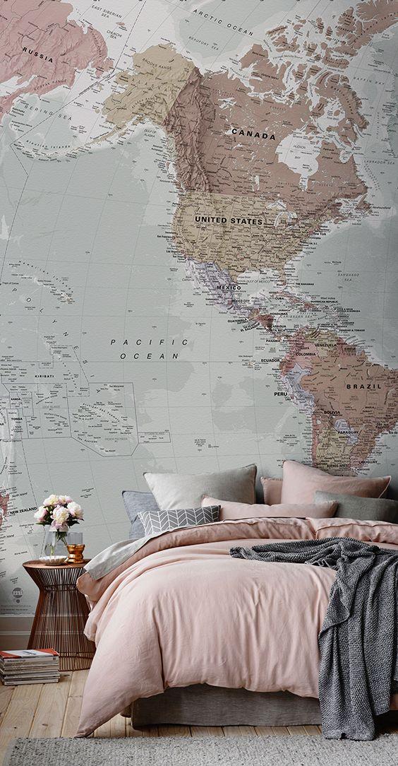Best 25 world map wallpaper ideas on pinterest map for Classic world map wall mural