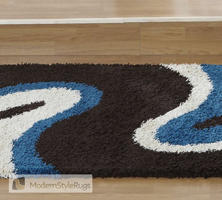 Hervorragend Sienna Ripple Brown Blue Rug   Modern Style Rugs