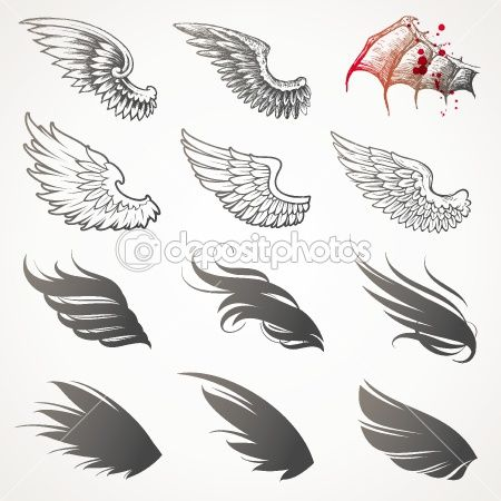 Vector set of wings by S-E-R-G-O - Image vectorielle
