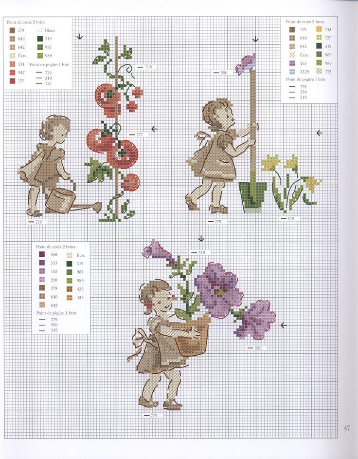 Veronique Enginger ''Dans mon jardin au point de croix''