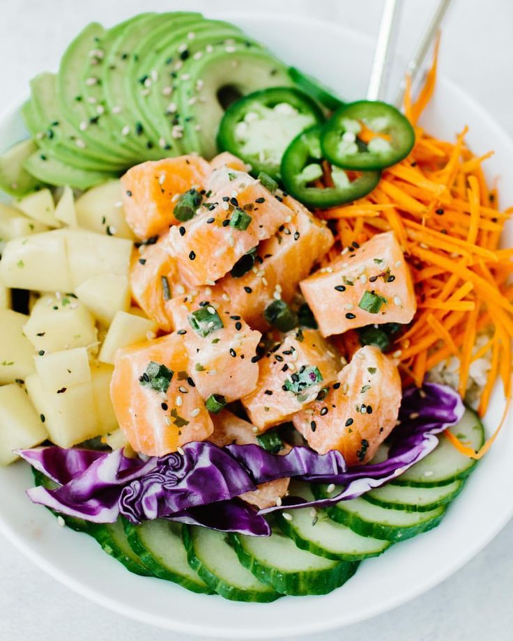 """3,665 Likes, 41 Comments - Official Whole30® Recipes (@whole30recipes) on Instagram: """"Whole30 Compliant Poke Bowls✨ @frolicandflow • INGREDIENTS (for two poke bowls): •8 oz sushi grade…"""""""