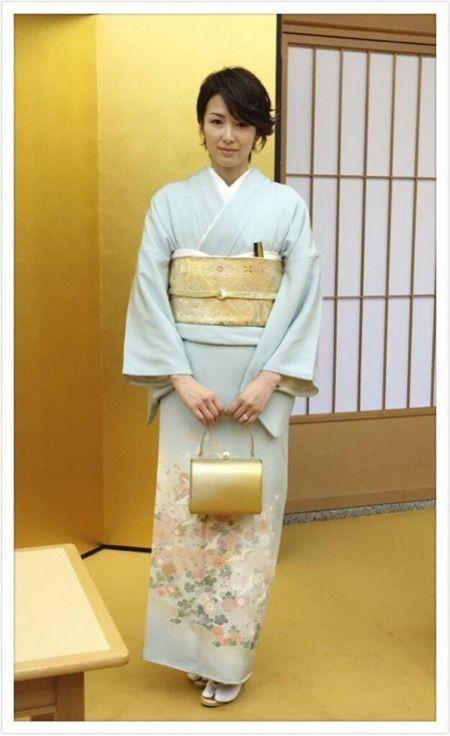 吉瀬美智子さんの着物コーディネート