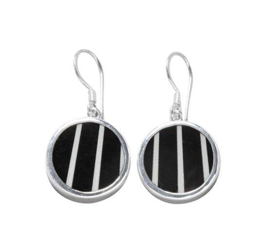 Pinstripe earrings - Geometric - TEMA #sägen #earrings #porcelain #jewellery #jewelry #geometric #nordicdesign #nordicdesigncollective #nordic #scandinavian #designers