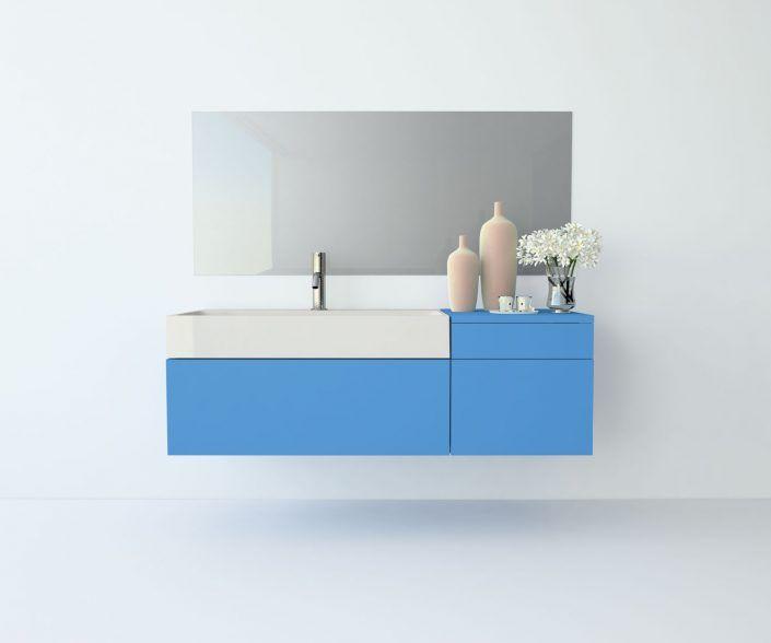Muebles de baño, propuestas de composiciones para conseguir amplitud en el almacenaje: cajones, puertas correderas, abatibles, huecos vistos, etc. unibaño-compactos-almacenaje-16