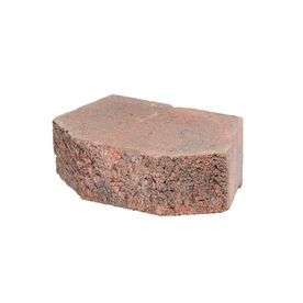 Red Charcoal Basic Concrete Retaining Wall Block Common
