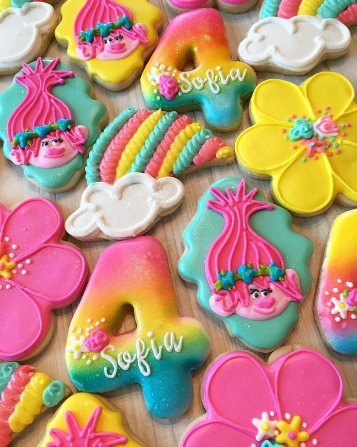 "26 Likes, 5 Comments - R&B Custom Cookies (@randbcustomcookies) on Instagram: ""Who doesn't love Trolls? One of my favorites!"""