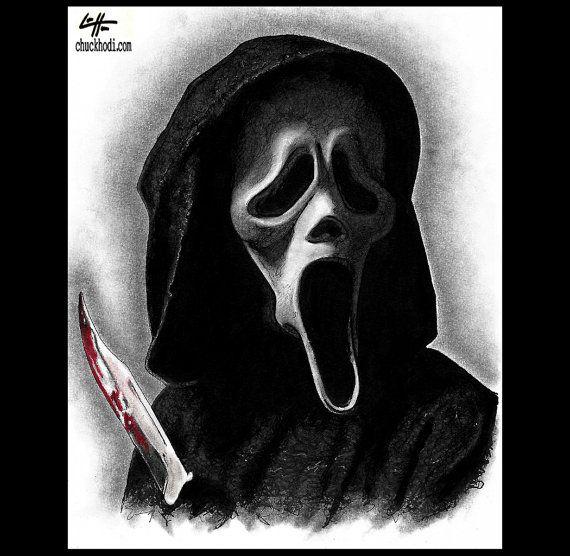 Print 8x10 Ghostface Scream Wes