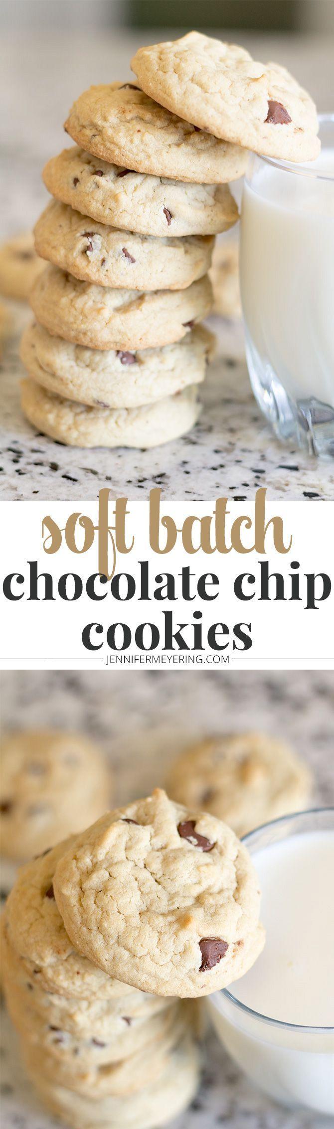 Classic Soft Batch Chocolate Chip Cookies - http://JenniferMeyering.com