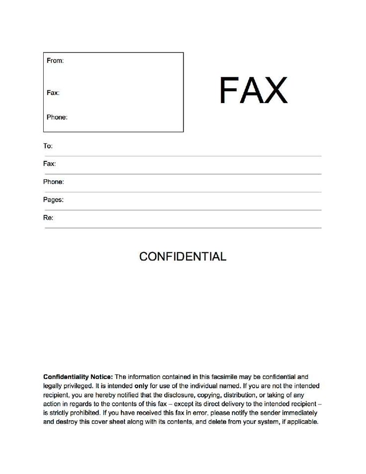 Cute Fax Cover Sheet – Free Online Form Templates