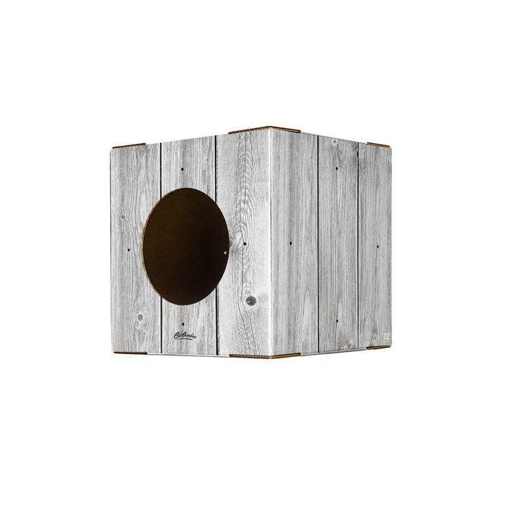 Single Wood print Cat Box