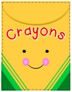 """Cheerful Crayons Clipart Freebie...........Follow for Free """"too-neat-not-to-keep"""" teaching tools & other fun stuff ;)"""