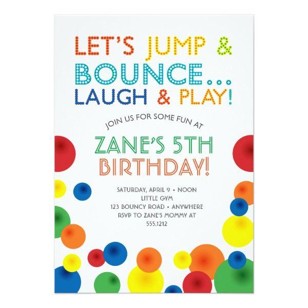 Bouncy Ball Birthday Invitation Zazzle Com Bouncy Ball Birthday Birthday Invitations Ball Birthday