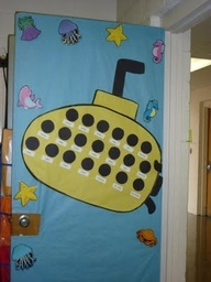 ocean bulletin boards | Ocean theme bulletin boards... Put their pictures inside the submarine!