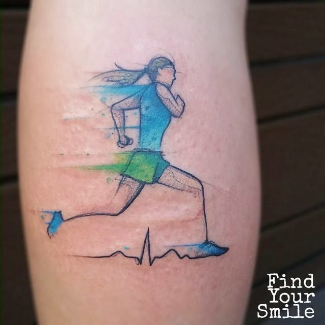 running girl tattoo