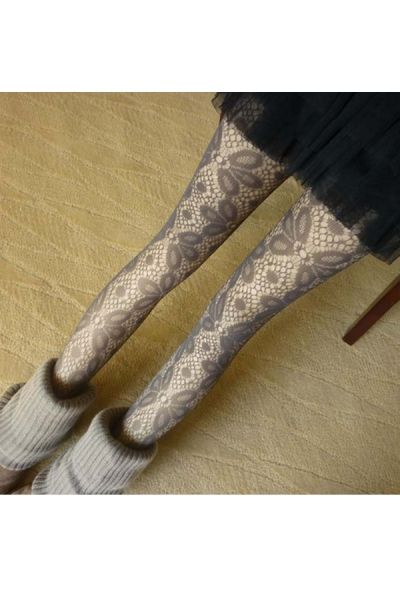 OasapFlower Embellished Cut Out Pantyhose $15