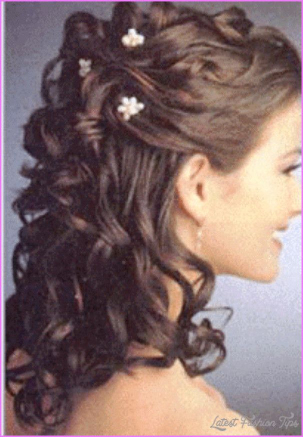 Wedding Hairstyles Medium Length Half Up Wedding Hairstyles And