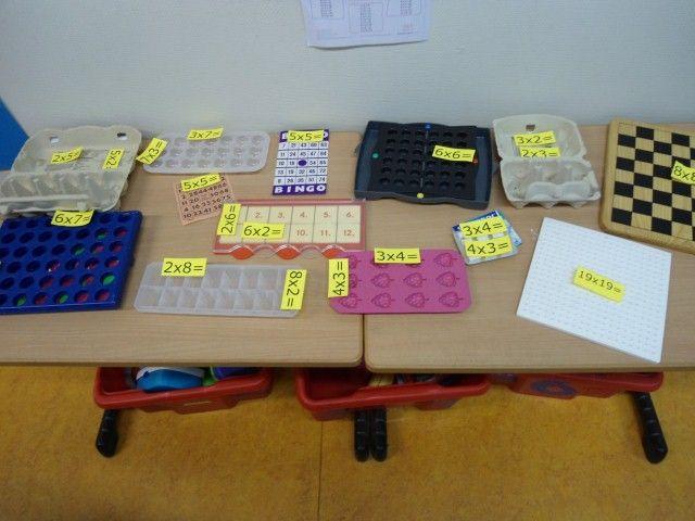 tafel met tafels in groep 4